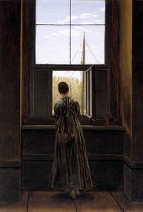 Femme à la fenêtre Caspar David Friedrich 1822 Nationalga