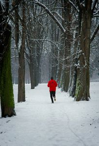 joging in winter