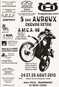 Affiche officielle 5 éme AUROUX ENDURO RETRO