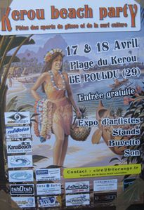 028 r Affiche Kerou beachparty
