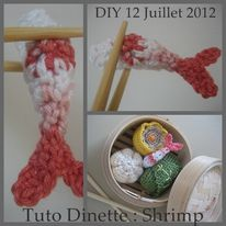 crevette DINETTE TUTO CROCHET