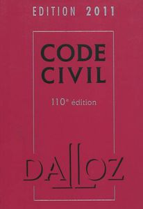 Code Civil 2011 Dalloz