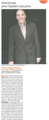 Article la gazette, 1mn S Novembre 2014 2