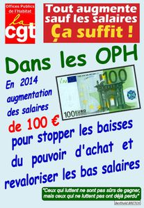 salaire 100 € OPH