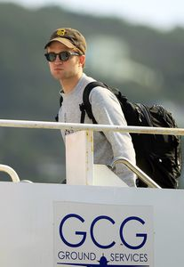 Robert Pattinson leaving St Thomas 1