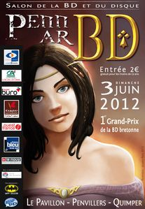 Affiche du salon Penn Ar BD - 2012 (Sixto Editions - Collection CasaNostra, BD polar).jpg