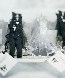 sachets à dragées mariés baroque