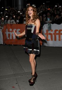 rachelle lefebvre at the town premiere in toronto 1