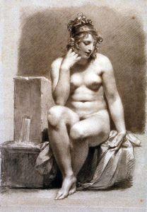 Pierre Paul Prud'hon. Vénus au bain. Esquisse. 1810-15. Lo