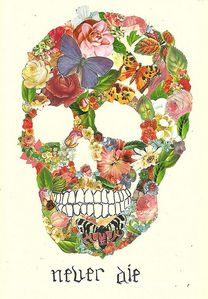 collage skull
