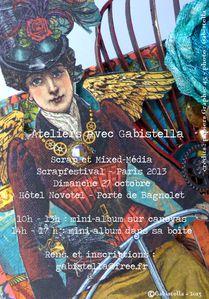 Affiche Gabistella Scrapfestival 2013 -CF1
