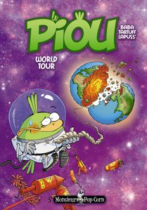 Le Piou World Tour Tome 3 Monsieur Pop Corn Editions Couver