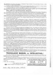 TRACT3 CONSEILS OUVRIERS 1919 Arch. dép. de la Loire, 1M51