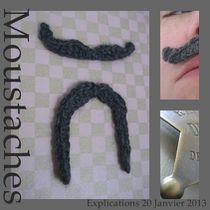 moustache au crochet explications