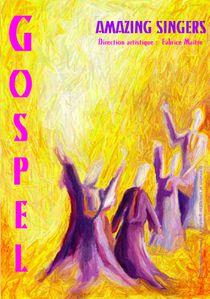 Affiche gospel gouache texture info 2458x3494