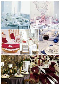 mariage hiver couleurs decoration de table