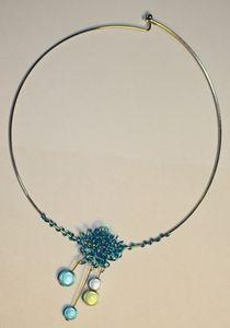 Collier gribouille bleu