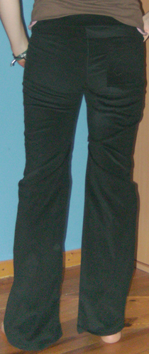 pantalon velour dos