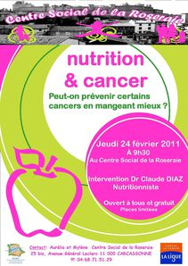affiche nutrition cancer