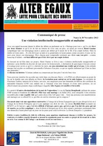 3) Une violation intellectuelle insupportable du 30.01.13