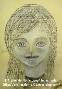 Croquis dessin visage enfant Atelier Artiste Ardennes Flo Megardon12