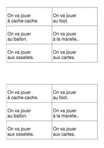 fiches phrases