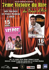 15 et 16 avril 2011 Les Pennes-Mirabeau, les 7è Victoire du Rire du Pays d'Aix