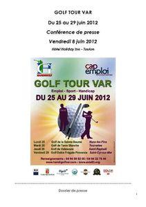 Dossier de presse GOLF TOUR VAR 2012