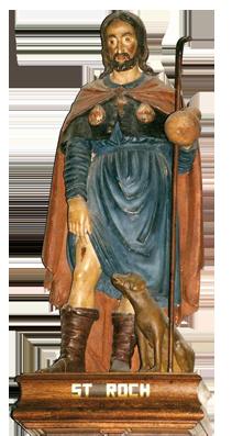 Statue-St-Roch-eglise-Revel