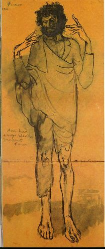 Picasso-Le-fou.-1904.-85-x-35-cm.-Blue-watercolor-on-wrappi.jpg