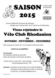Saison 2015 Oct-Nov-Dec