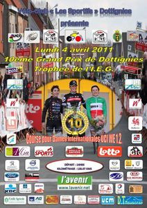 Affiche GP Dottignies 040411