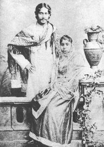 Tagore with wife