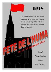 invitation fête de l'Huma 2