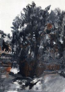 Frédéric Fau, Sans Titre, 2011, Glycéro et pigments sur papier, 29,7 x 21 cm