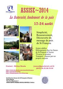 Affiche Assise 2014