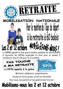mobilisation du 2 et 12 octobre 2010BF 1