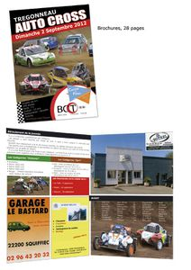 Brochure et affiche pour auto cross 2012