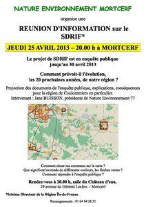 NEMortcerf-SDRIF-Affiche Avril2013
