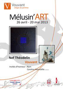 affiche Mélusin'art 2013
