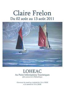 Lohéac affiche exposition indivicuelle Claire Frelon