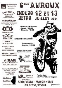 affiche Officielle 6 éme AUROUX ENDURO RETRO