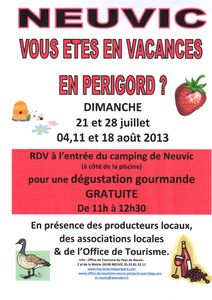 accueil dégustation camping 2013