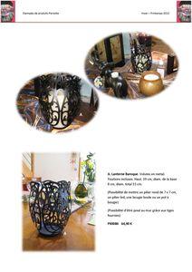 Hiver-Printemps Lanterne-baroque