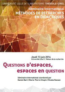 Question d'espaces Lille 2014