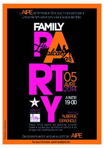 flyer family party