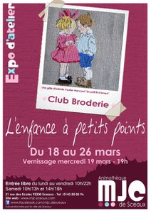 Affiche expo broderie 2014