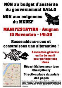 2014-11-15 Manif austérité Avignon