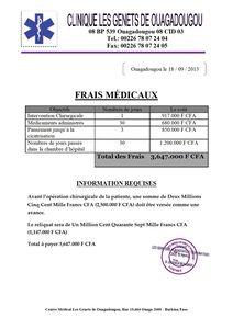 FRAIS MEDICAUX