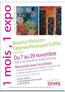 affiche un mois une expo Orsay nov 2012